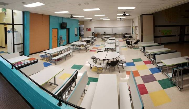 Hopkins Elementary School Cafeteria Furniture