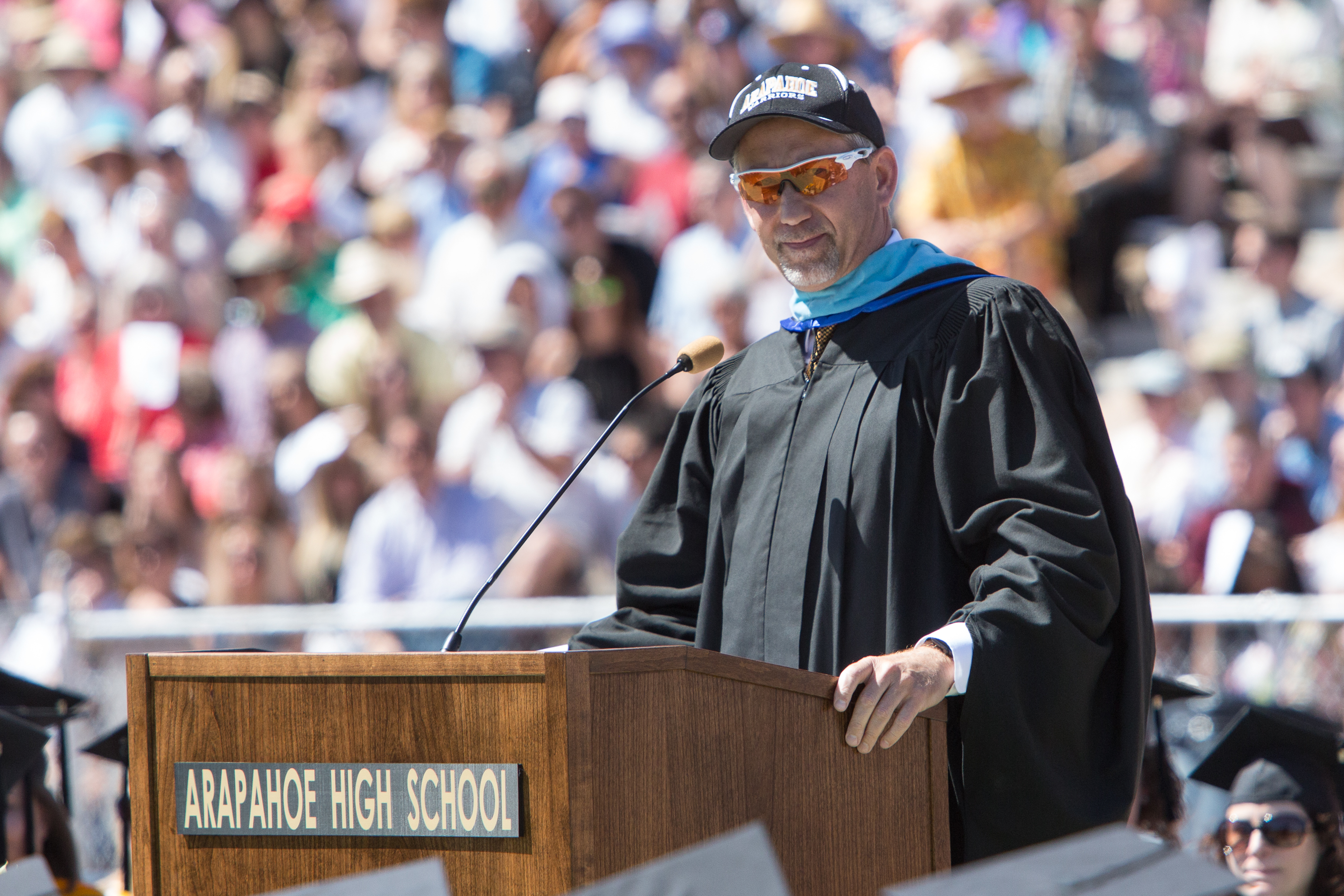 Superintendent Brian Ewert at Arapahoe graduation