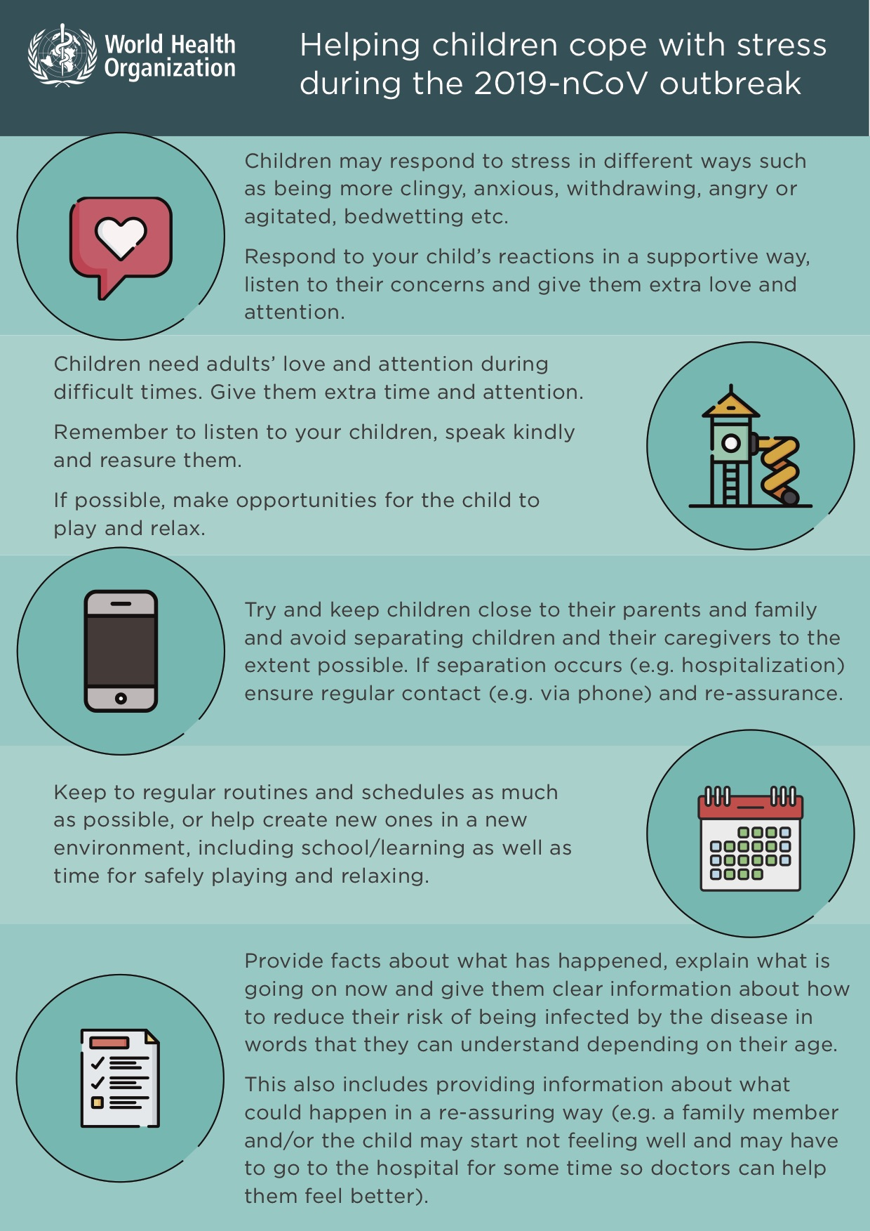 Infographic - coping with stress for children
