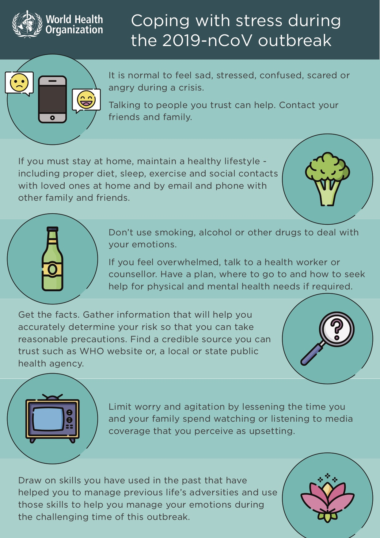 Infographic - coping with stress for adults