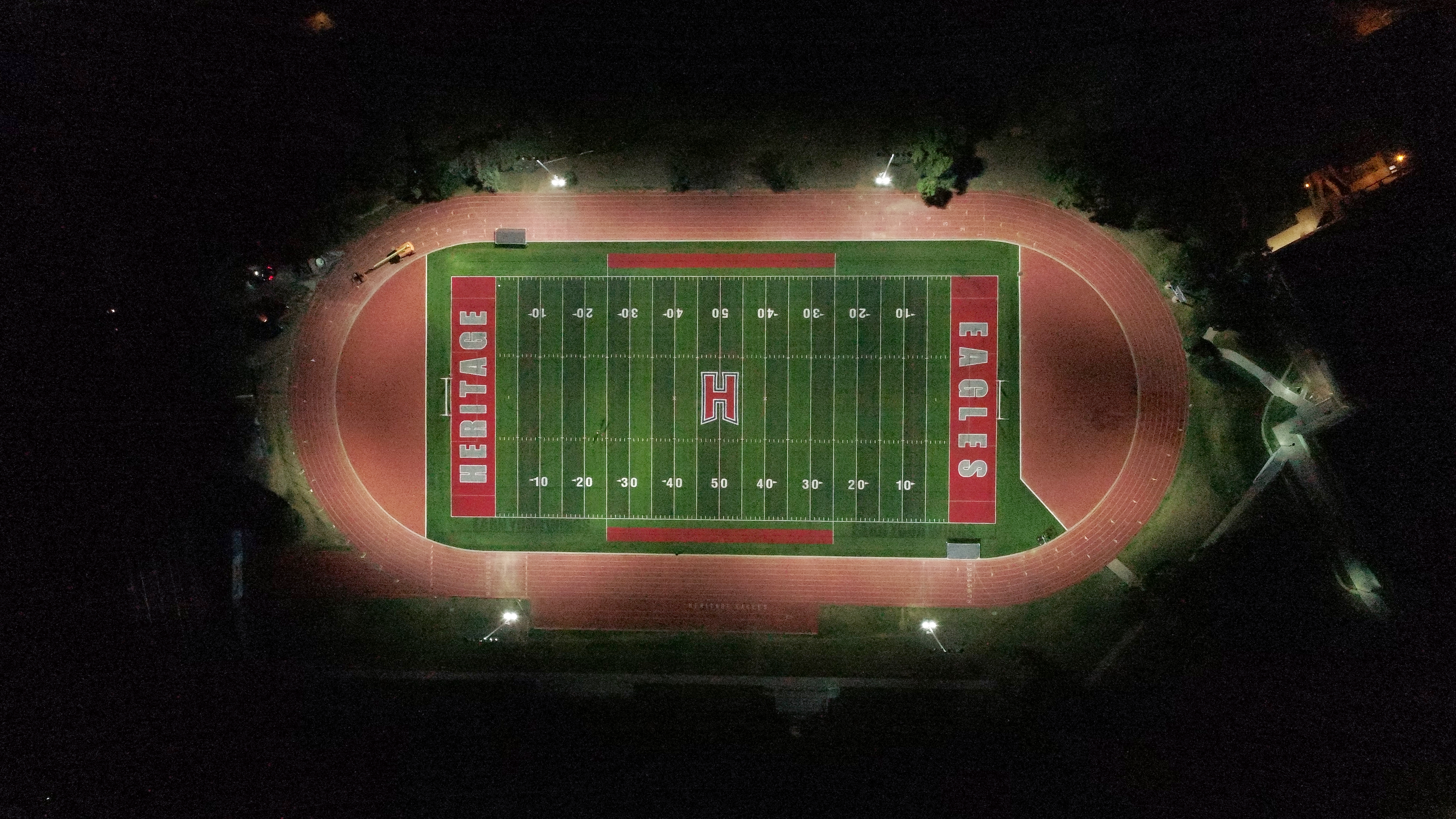 HHS turf field with lights Aug. 20, 2019
