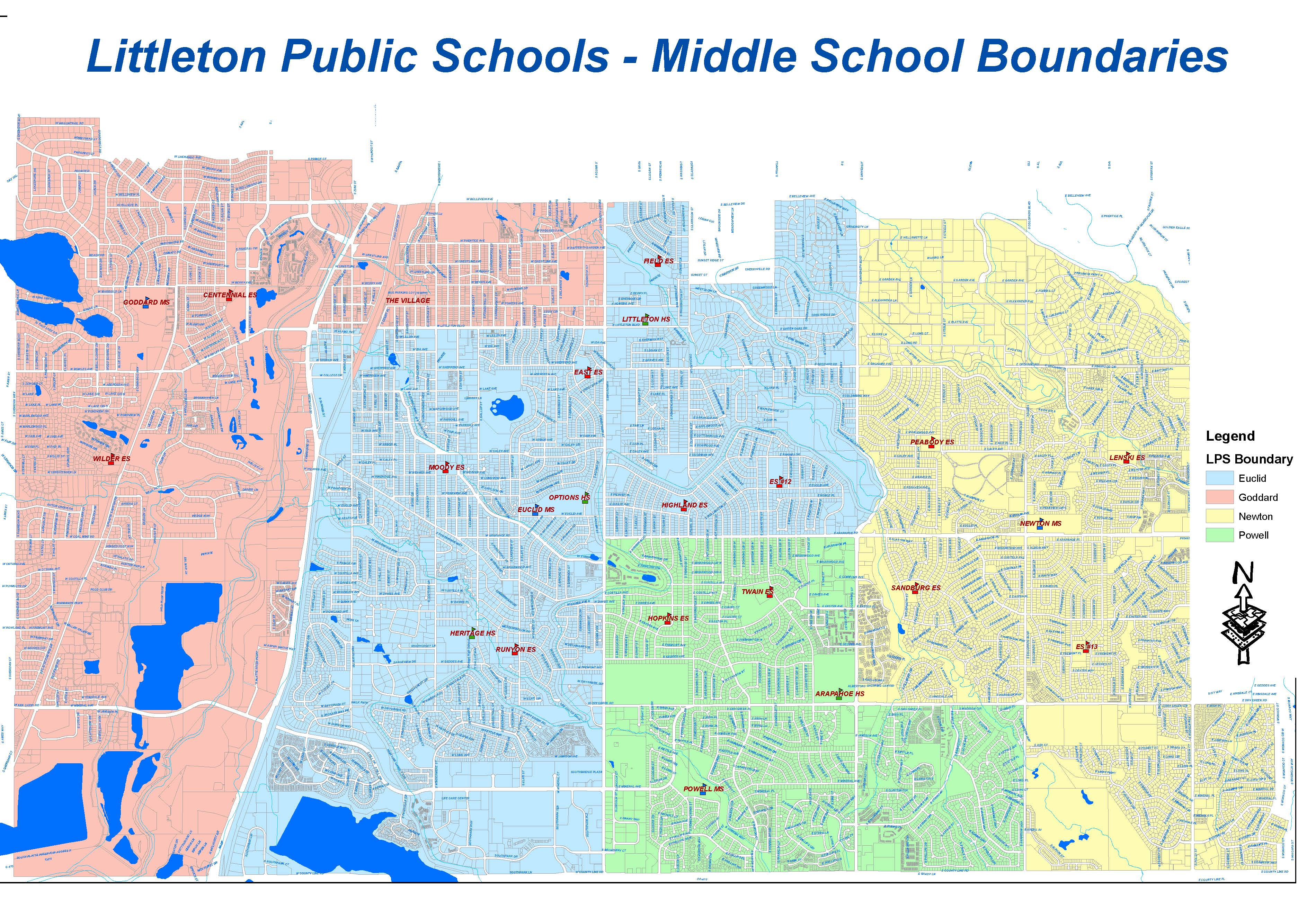 Middle School Boundaries Effective 2021