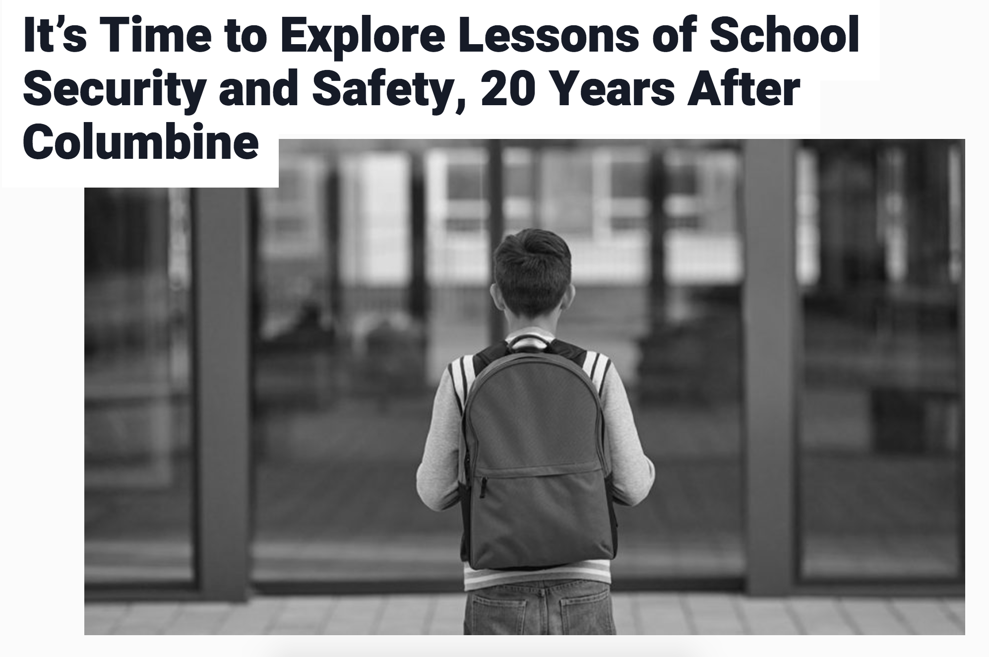 Guy Grace Shares Insights On School Safety In New Article