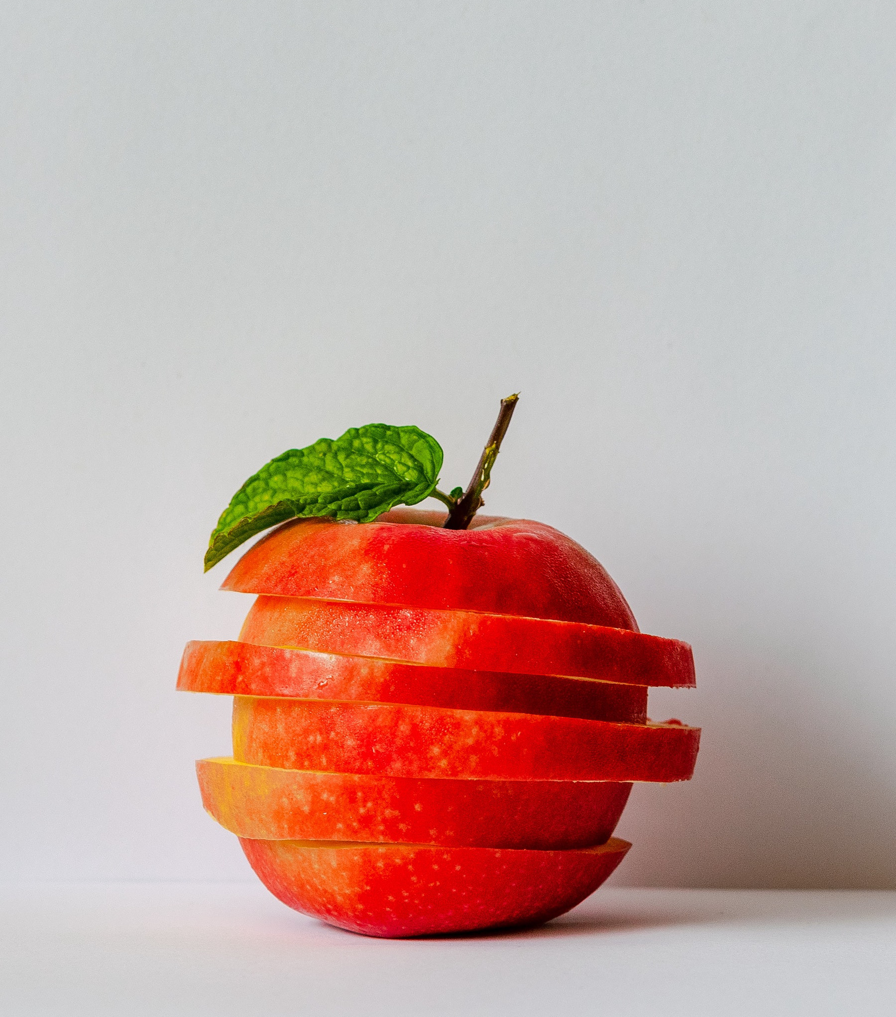 Image of a Sliced Red Apple