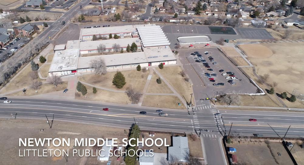 Aerial photograph of Newton Middle School