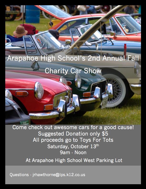 Oct Charity Car Show Littleton Public Schools - Littleton car show
