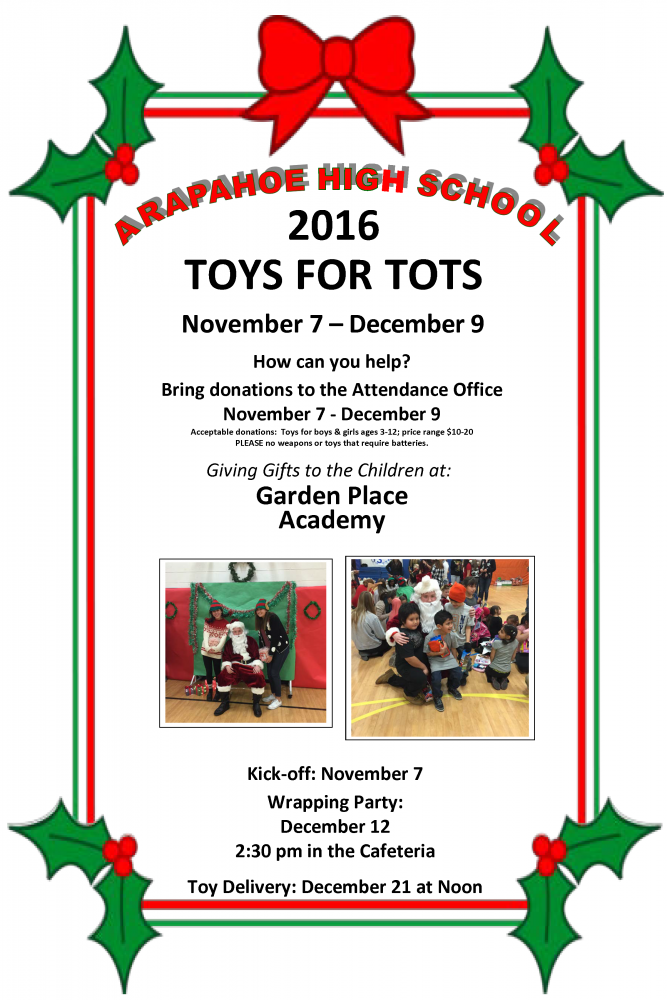 Toys For Tots Colors : Ahs toys for tots littleton public schools