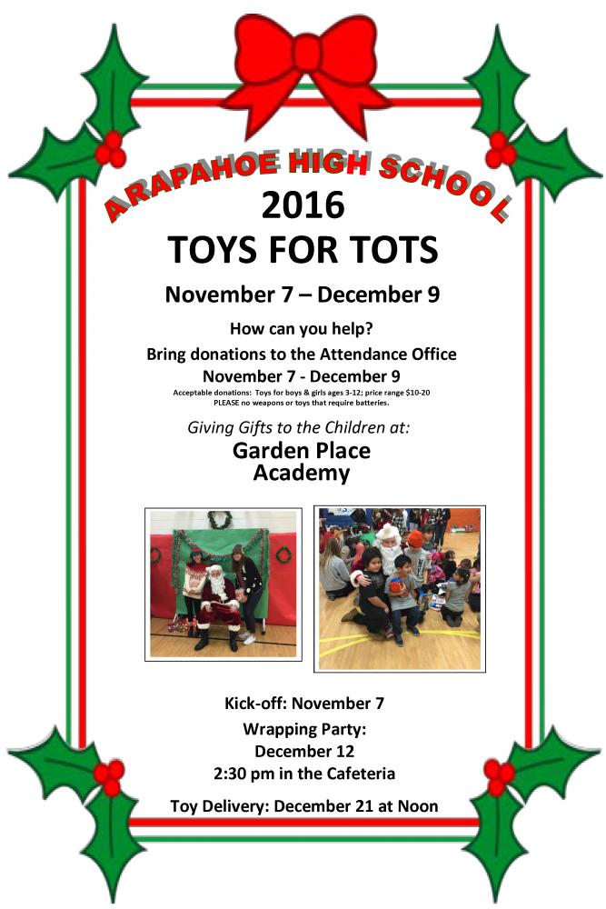 Toys For Tots 2017 Poster : Ahs toys for tots littleton public schools