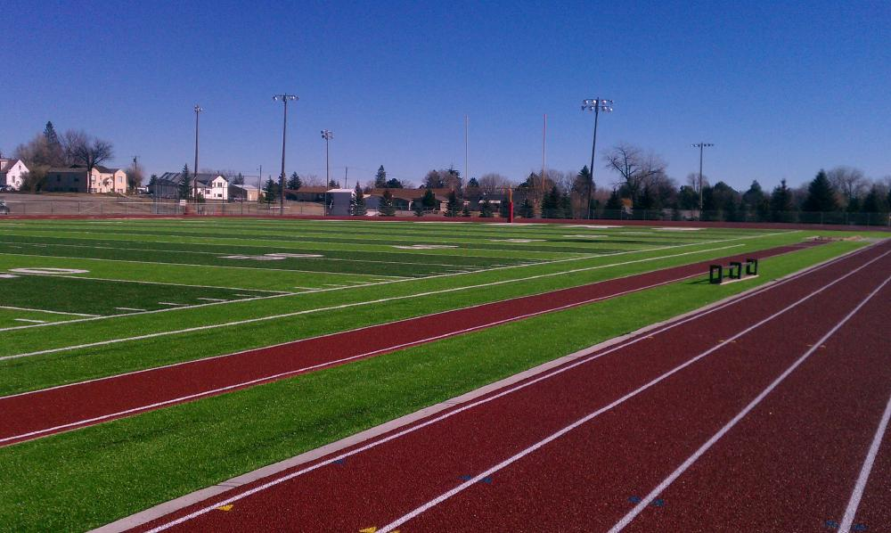 sample artificial turf sports field
