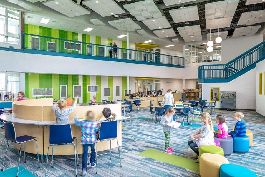 Example of new elementary school interior