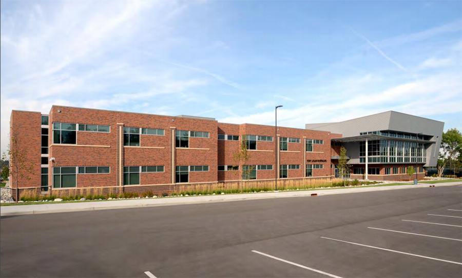 Example of new school exterior